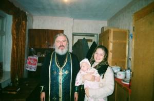 Семейный архив. Самое любимое и трогательное фото. Освещение жилья. Батюшка Игорь Зуев - первый настоятель храма Святой Елизаветы.