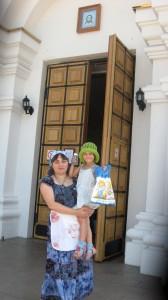 Долгожданная встреча с любимой крестной, прихожанкой храма Св. Елизаветы