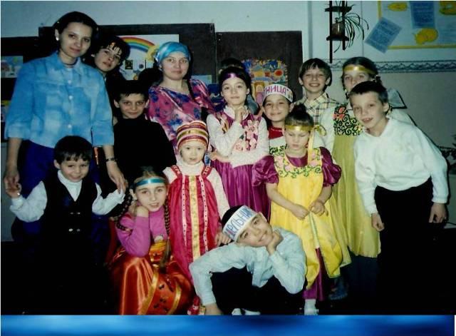 Наша первая масленичная постановка, 2005 год. Наши воспитанники еще совсем маленькие...