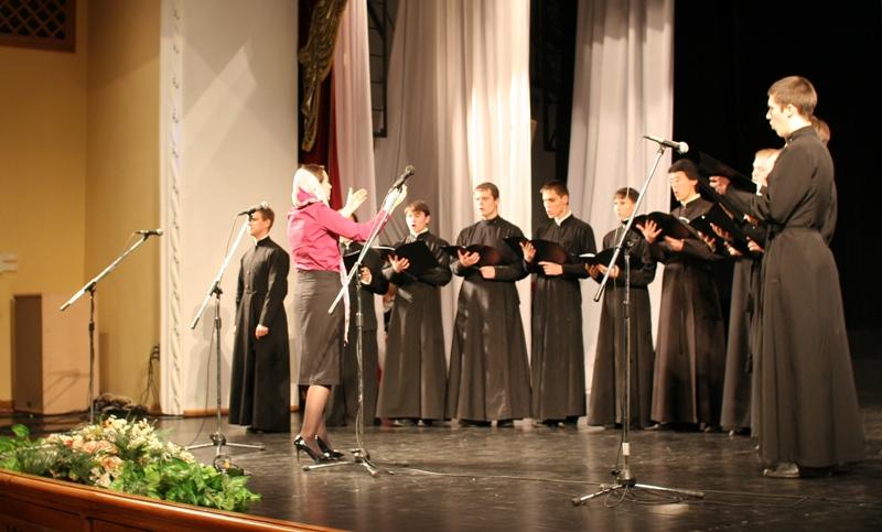 Выступление сводного хора Хабаровской духовной семинарии