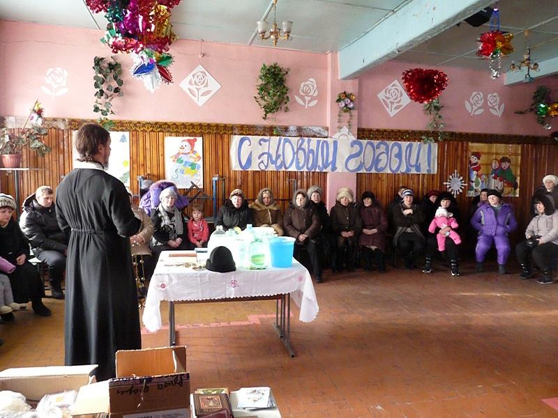 Крещение в посёлке Новое Устье