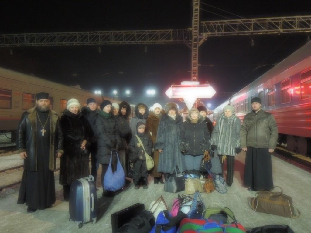 Прибытие в Иркутск - встречает о. Михаил
