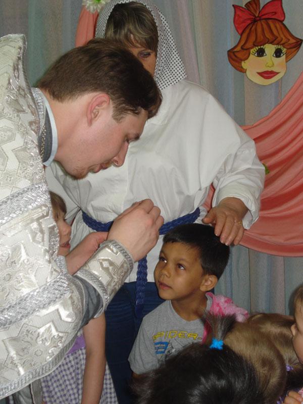 Крещение детей в Детском Доме