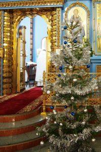Наша рождественская ёлочка. Оформление храма.